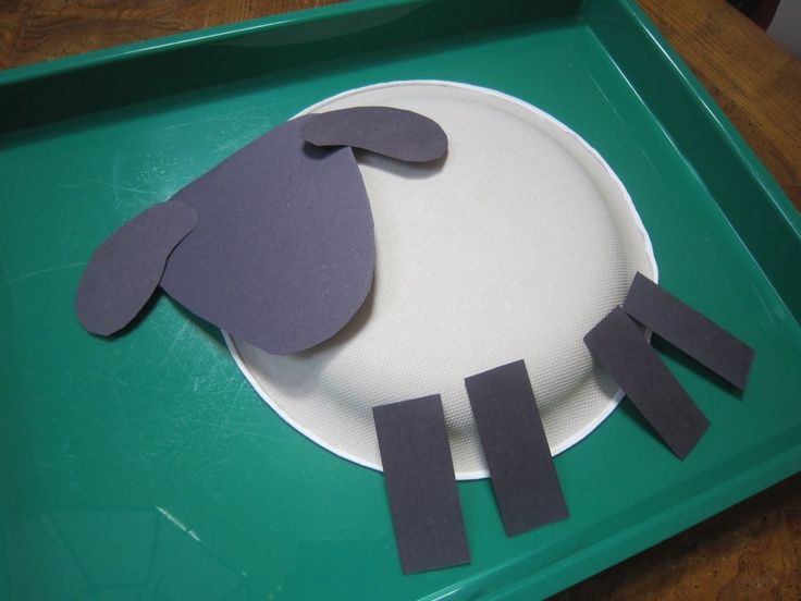 Very cute and easy lamb paper plate craft. & 13 best Bible Crafts- Sheep and Shepherd images on Pinterest | Bible ...
