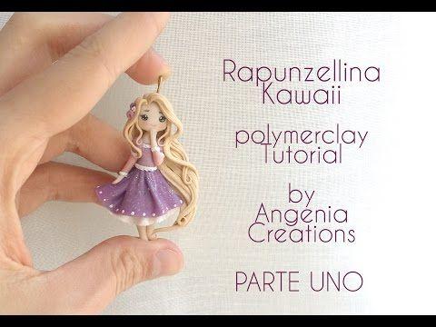 Tutorial angenioso - Creare una Rapunzellina kawaii in fimo - livello super base - parte 1 - YouTube
