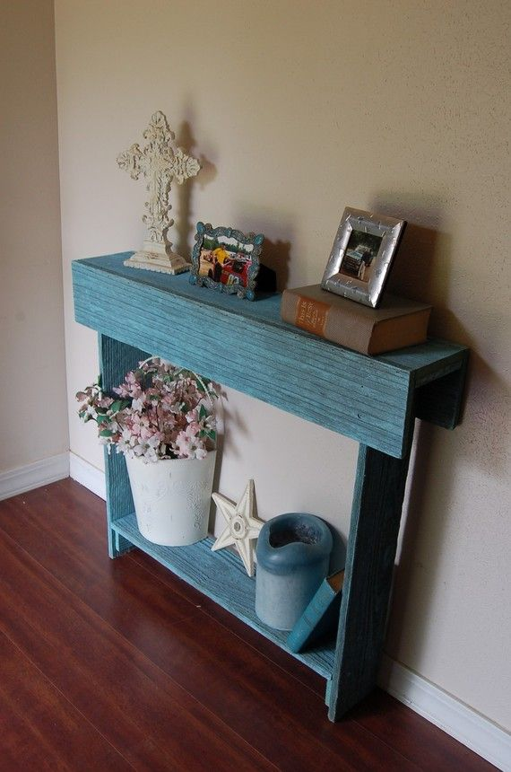 Cedar wood console table