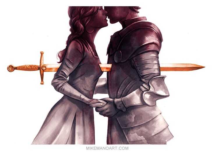 Guinevere and LancelotBound together but held apart by duty and oath to their King.