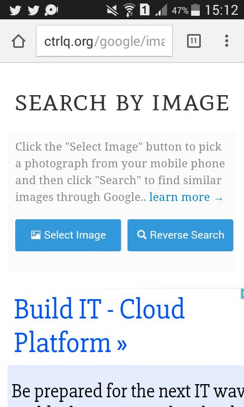 Reverse image search | Find the original source of a picture