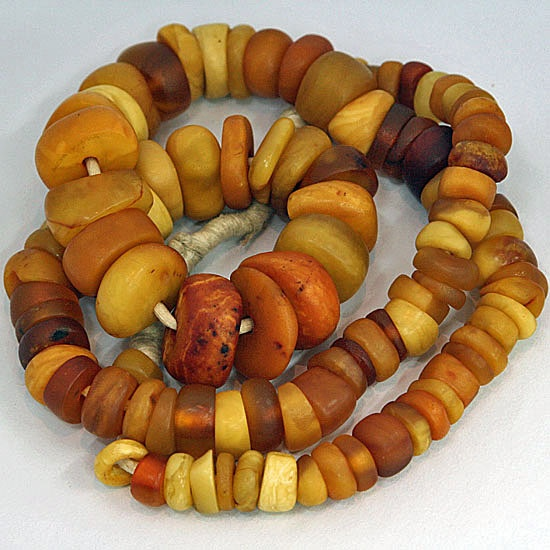 Antique Amber Trade Beads