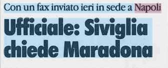 Il Siviglia vuole Maradona (la Stampa)