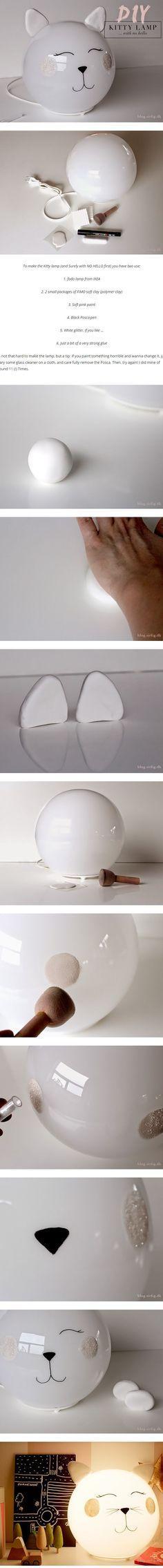 So wird aus eurer Kugel-Lampe ein Kätzchen. ❤️ #IKEAhacks