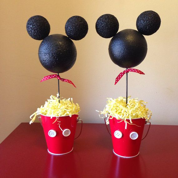 Mickey Mouse Party Table Decorations by BailensPerfectParty