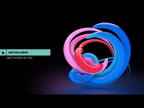 Cinema 4D Tutorial - How to use Motion Drop (Free Cinema 4D Tool) - YouTube