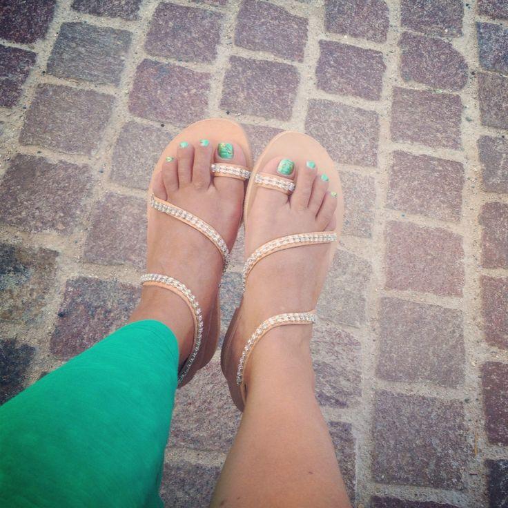 Handmade crystal goddess sandals