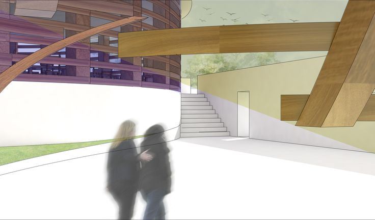 perspective drawing courtyard