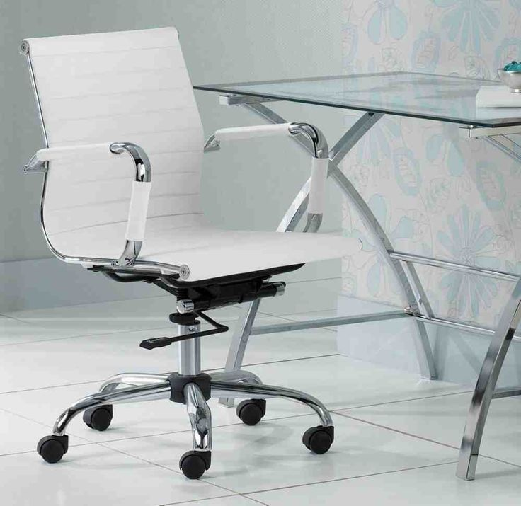 Serge White Low Back Swivel Office Chair 99
