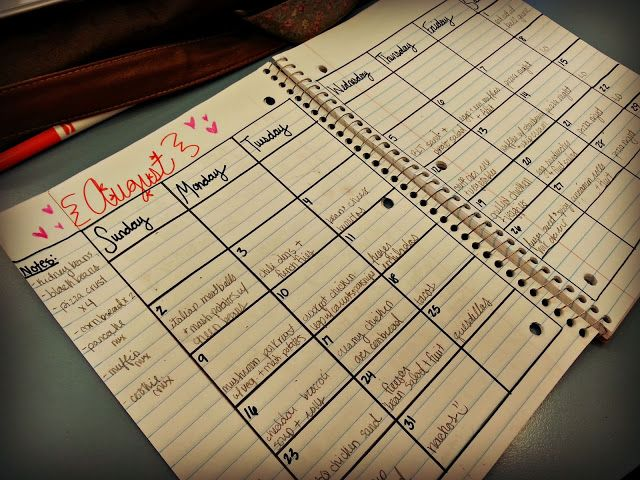 meal planning notebook simple,easy and functional blissful and domestic