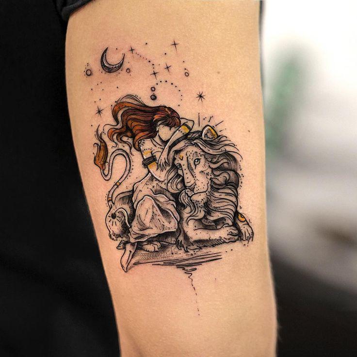 Tatuagem criada por Rob Carvalho de São Paulo. (i would like this but with a wolf instead of a lion)