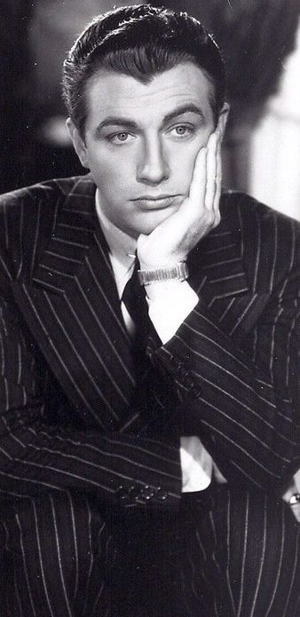 Robert Taylor pinstriped in Private Property, 1937