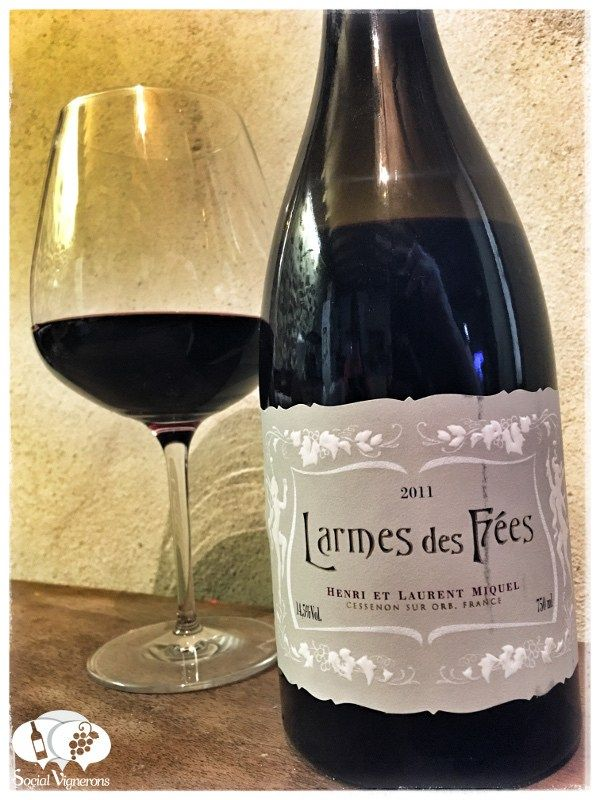 Score 95/100 Wine review, tasting notes, rating of Laurent Miquel Larmes des Fées Saint-Chinian. Description of aroma, palate, flavors. Join the experience.