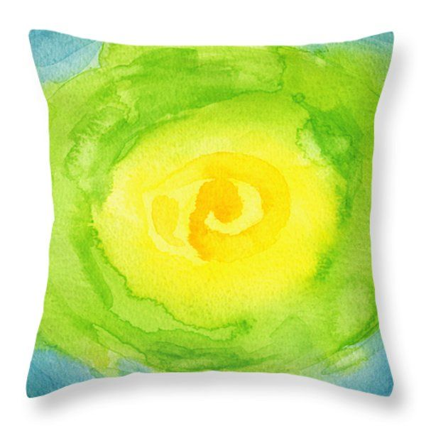 Throw Pillows - Abstract Iceberg Lettuce Throw Pillow by Kathleen Wong