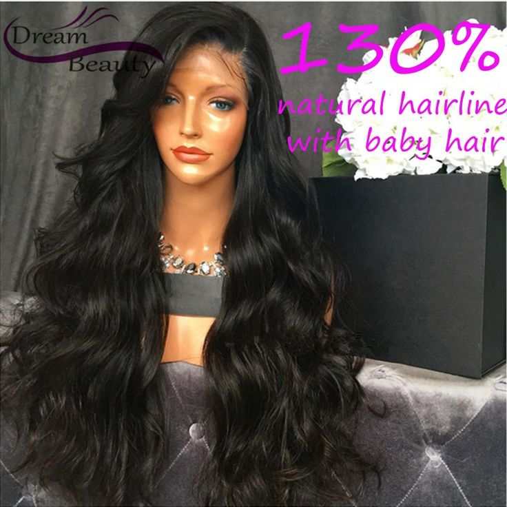 Body wave glueless lace front wig virgin brazilian virgin hair full lace human hair wigs for black women 130% full lace wig