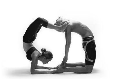 scorpion to camel pose partner yoga  partner yoga