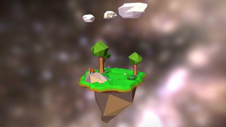 Floating Island Scene by JTWardle and Troy Chadderton. Ist year students on BA(Hons) Games Design at UCLan.