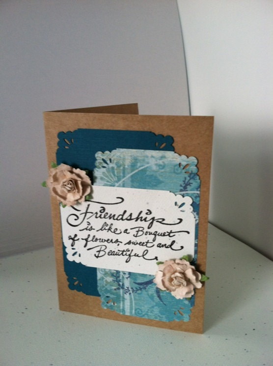 Handstamped Friendship CardInspirational by JustSimplyHandmade, $3.75