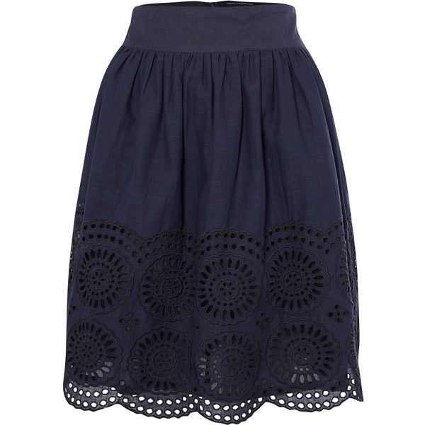 French Connection French Connection Lady Solitude Flared Skirt ($98) ❤ liked on Polyvore