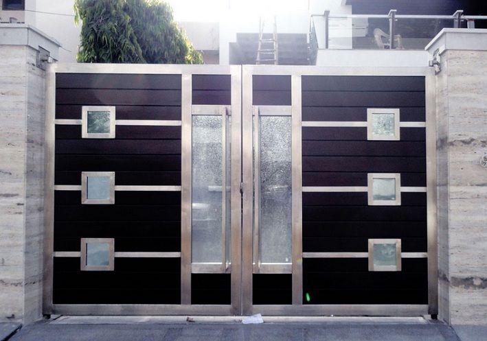 Stainless Steel Main Entrance Gate Design For Modern Home Home Doors Design Inspiration Doorsmagz Com Door Gate Design Front Gate Design Iron Gate Design