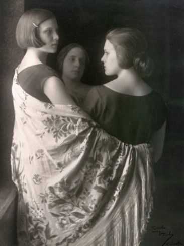 Marion and Wanda Wulz with Bianca Baldussi Photographic Print by Carlo Wulz at AllPosters.com
