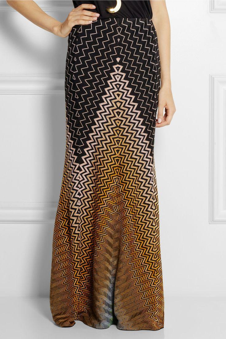 Missoni|Crochet-knit maxi skirt