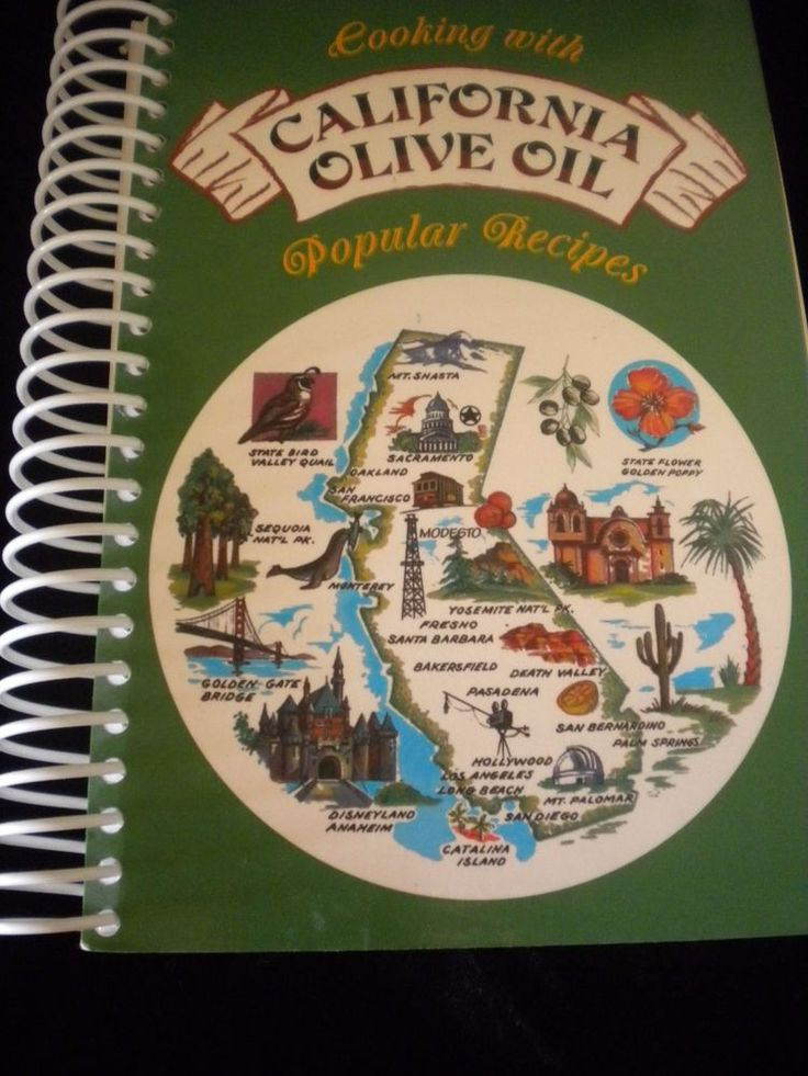 Cooking With California Olive Oil Popular Recipes 2001 Sciabica