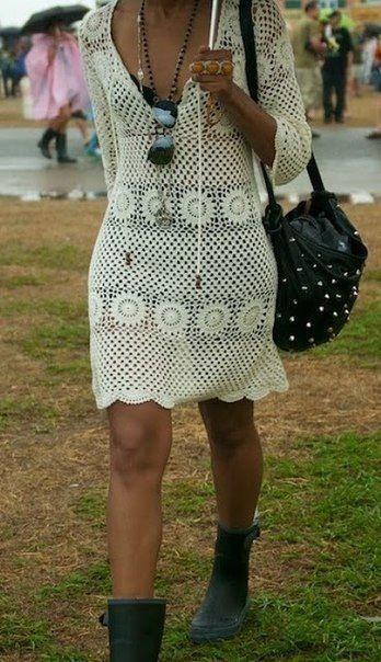 crochet boho dress Mehr