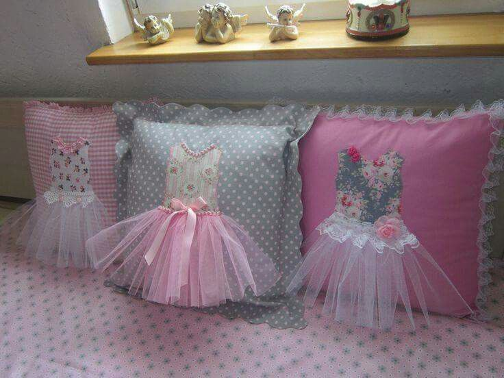 Ballerina tutu cushions - what a cute idea