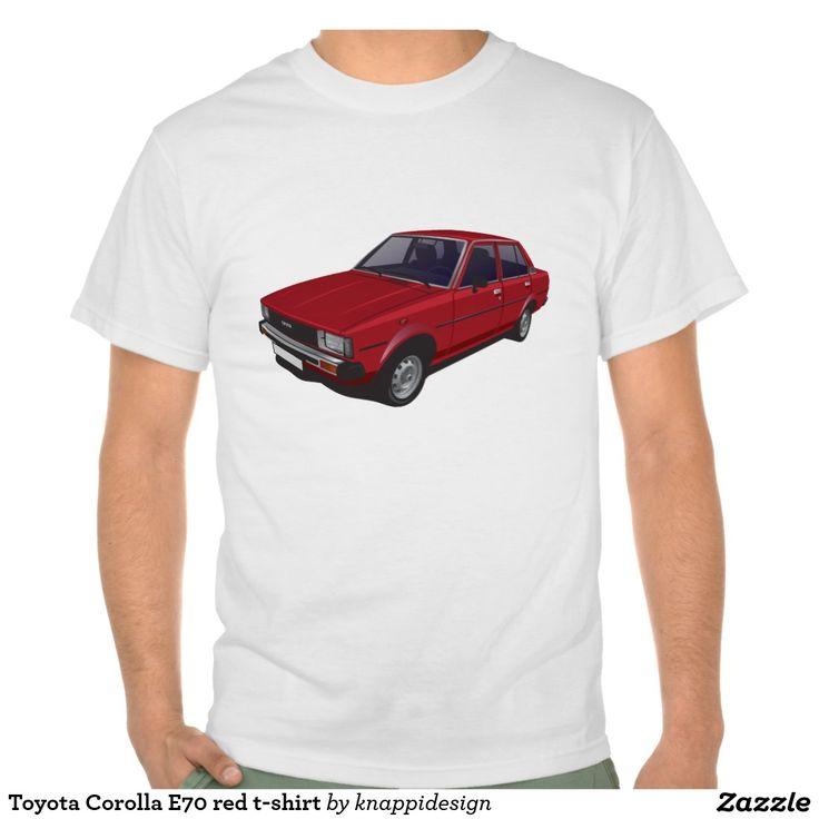 Toyota Corolla E70 red t-shirt  #toyota #corolla #toyotacorolla #corolla #dx #e70 #tshirt #thirts #tpaita #ttroja #zazzle #automobile #car #bil #auto