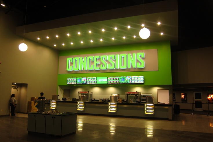 movie concession stand menu | The digital menu at the concession was impressive, however, the heavy ...