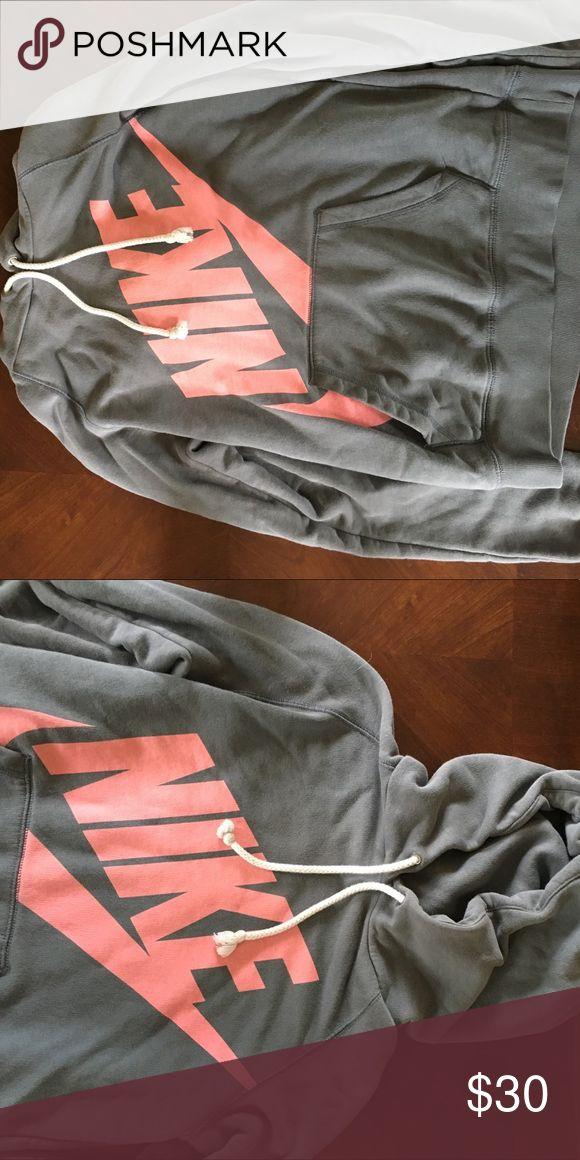 Nike hoodie Grey Nike hoodie barely worn and super comfy!! Nike Tops Sweatshirts & Hoodies