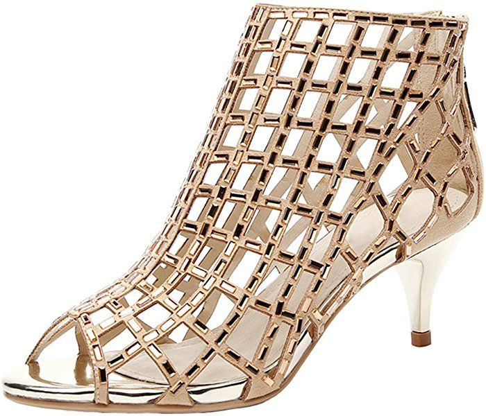 114deac7791e7 Amazon.com | jiandick Womens Rhinestone Ankle Bootie Prom Heeled ...