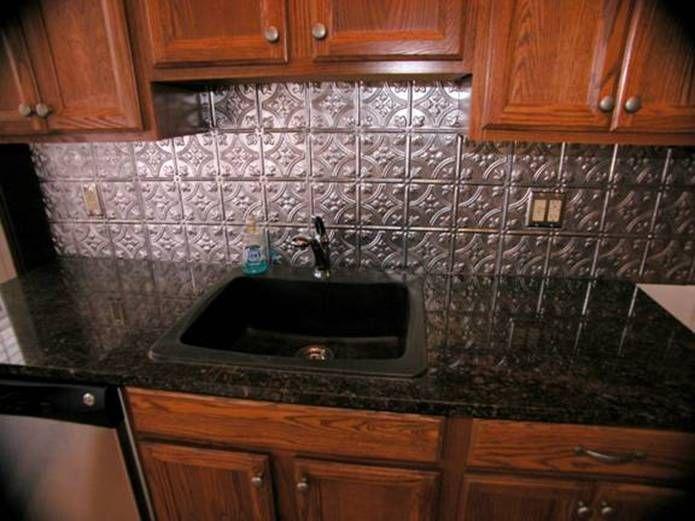 Black Granite Countertops With Tile Backsplash Entrancing Decorating Inspiration