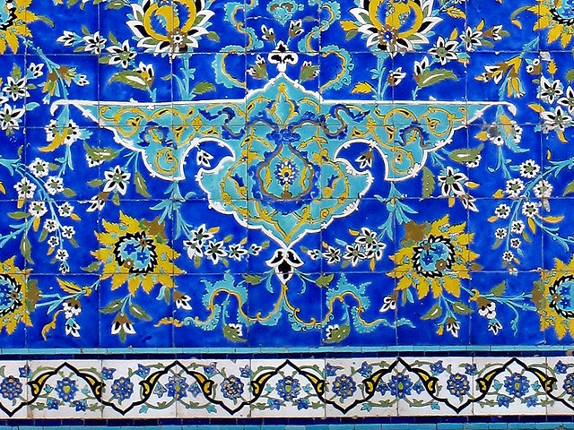 Tile #mural from #Isfahan, #Iran.