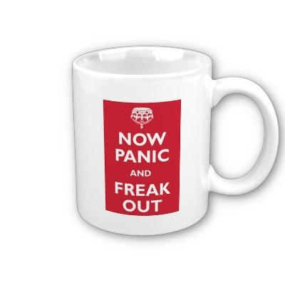 Now Panic And Freak Out Travel Mug