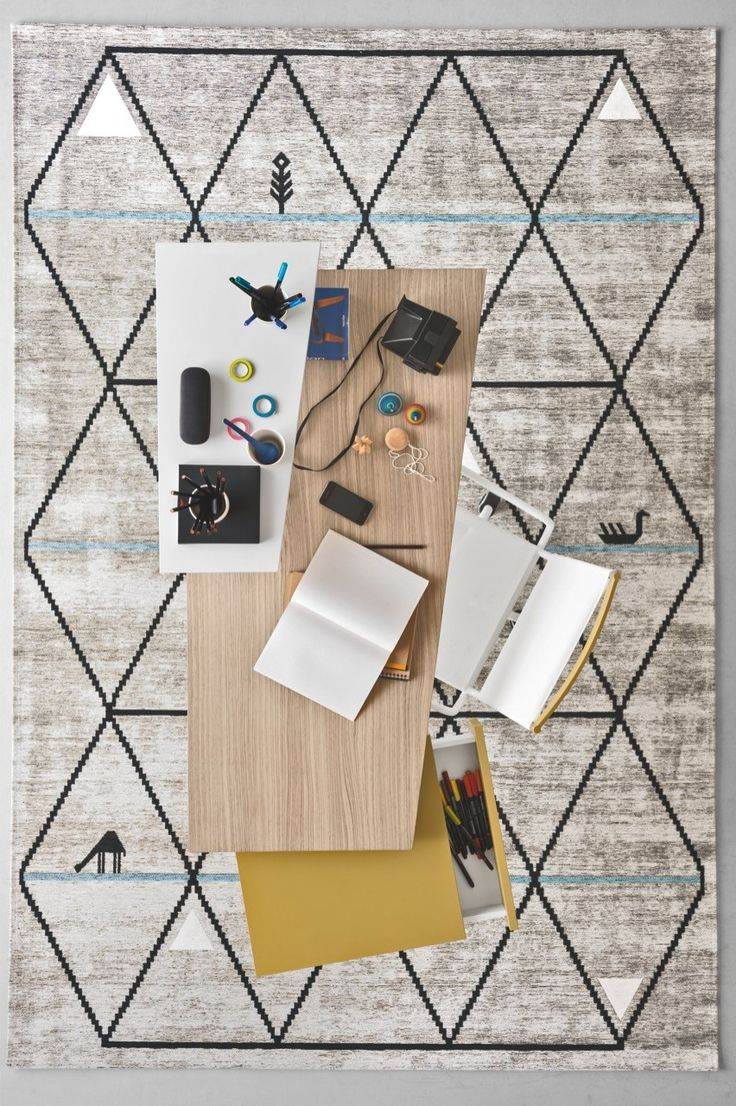 GAVA belongs to CODE and is a jacquard-woven rug, made from mixed cotton and chenille yarns with a plush effect. #calligaris #toronto #code