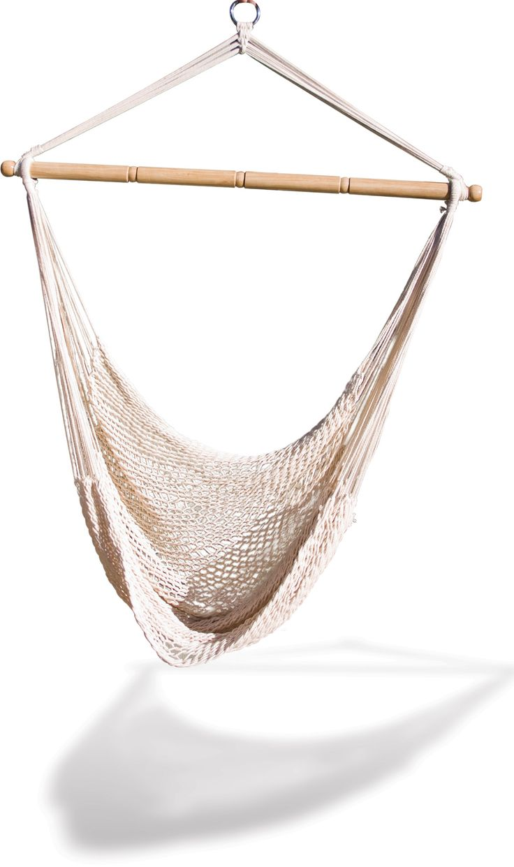 Features:  -Hammock hanging net chair.  -220 lbs capacity.  -Comfortable.  -Indoor use: Yes.  -Can be hung from ceiling: Yes.  Product Type: -Chair hammock.  Hammock Material: -Cotton.  Hammock Color:                                                                                                                                                      More