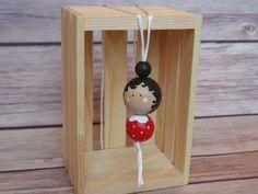 Collar de madera del grano / / Peg Doll collar / / collar