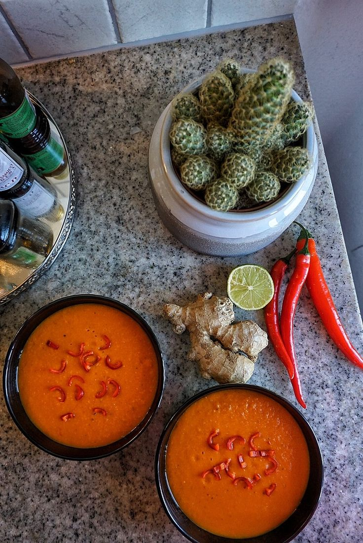 Sweet Potato Soup with Ginger, Lentils, Chili and Lime | GreenLoveStories Blogg