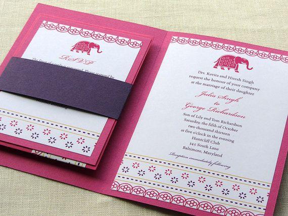 Indian Wedding Invitation Booklet   Elephant by ImbueYouIDo,