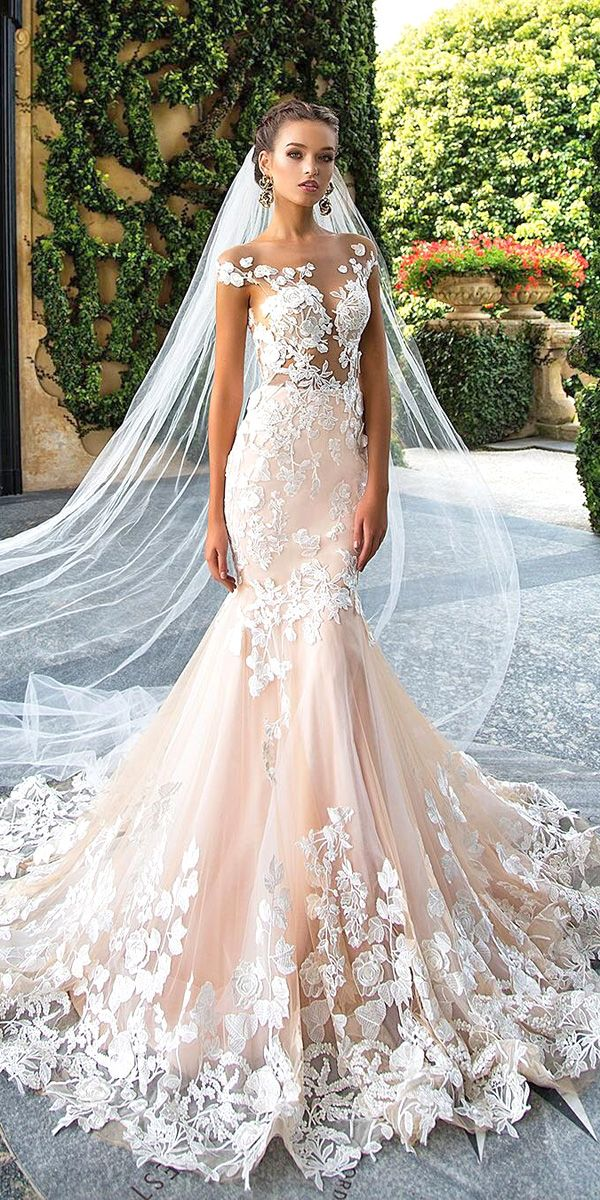 I couldn't pull it off but this is so pretty!  30 Totally Unique Fashion Forward Wedding Dresses ❤ See more: http://www.weddingforward.com/fashion-forward-wedding-dresses/ #wedding #dresses #fashion