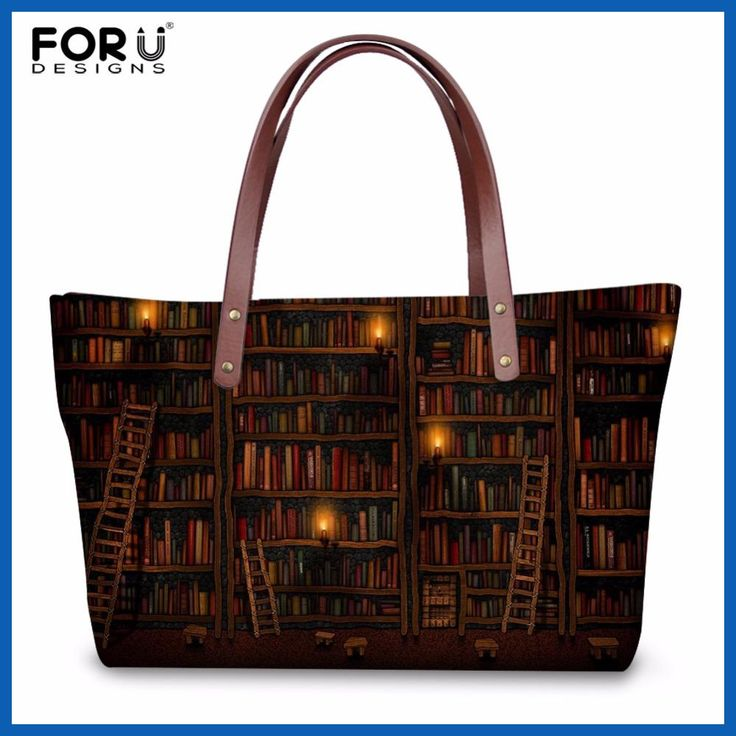 FORUDESIGNS Vintage Women Casual Messenger Bags Handbags Cute Book Shelf Sleepy Kitty Cat Pattern Ladies Large Beach Tote Bags