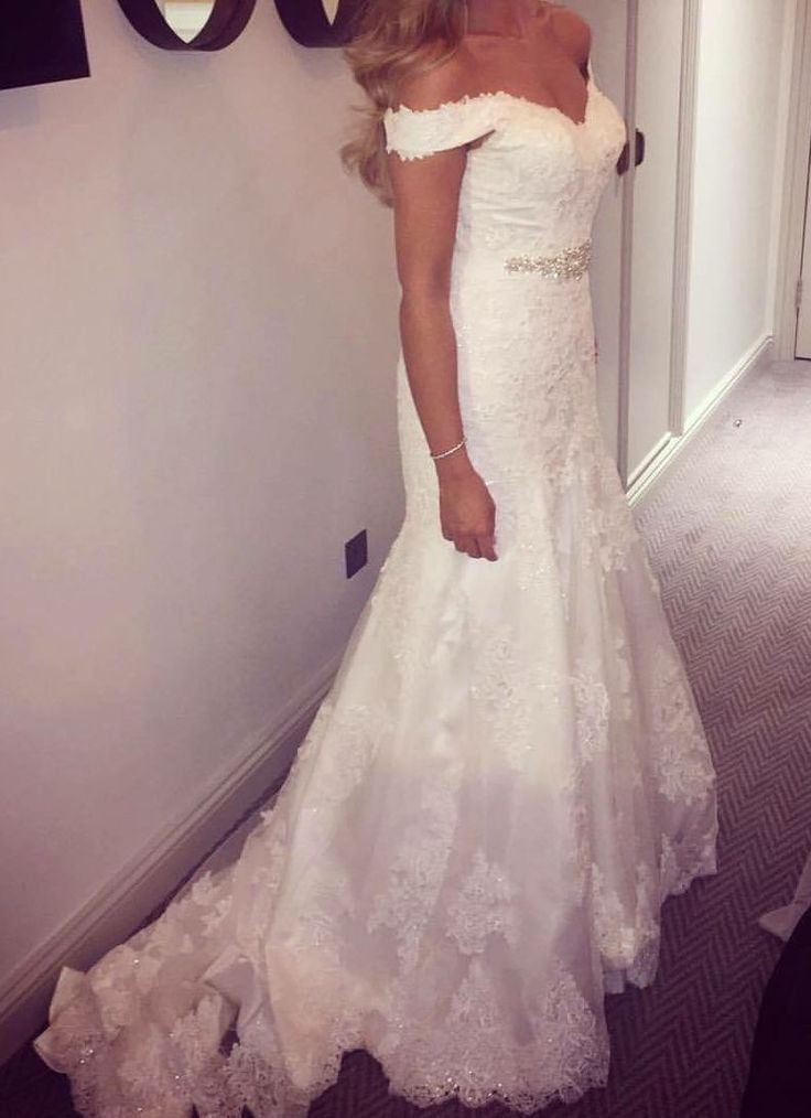 Essense of Australia D1617 off the shoulder wedding dress for sale on www.sellmyweddingdress.co.uk Size 10-12, £700  http://www.sellmyweddingdress.co.uk/listing/stella-york-essence-of-australia-wedding-dress/2109