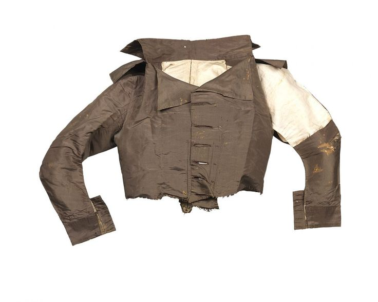 Originally owned by Martha Washington, this redingote (riding jacket or riding habit) was acquired by Martha Peter, possibly as a gift or as part of a larger lot from the 1802 estate sale.