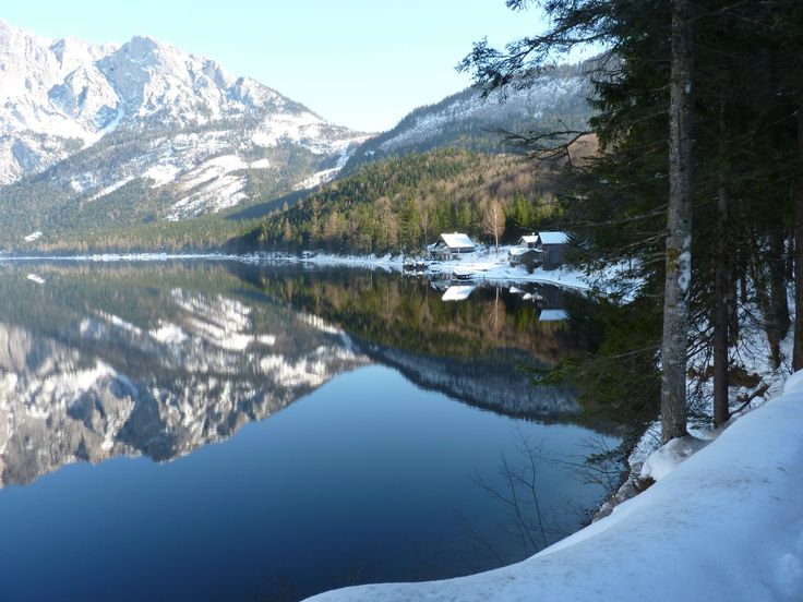 Reflection. Altausee, Austria