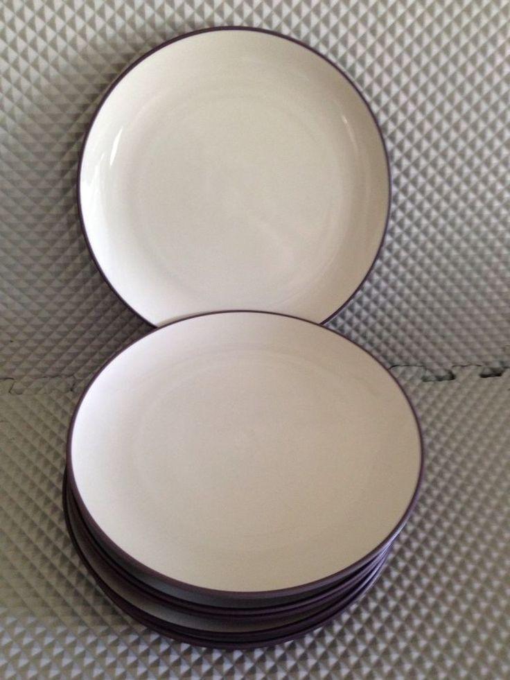 "NICE! (Set of 3) Noritake Colorwave Purple #8486 Dinner Plates 10 3/4"" diameter #Noritake"