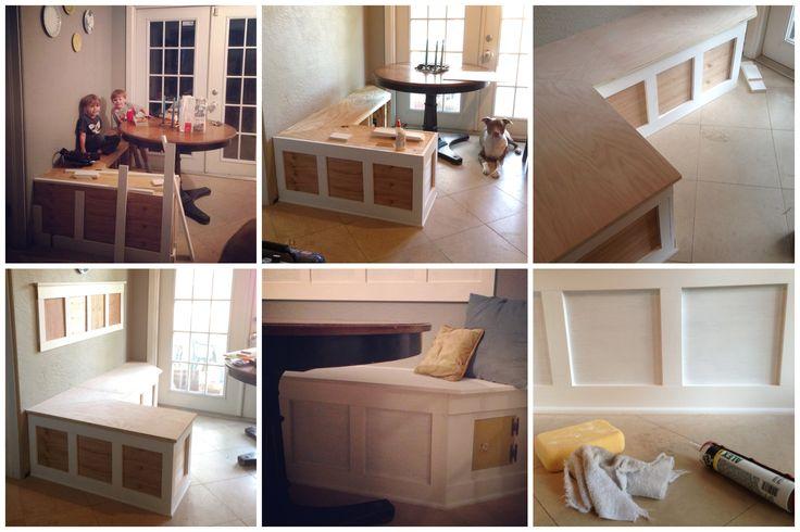 DIY Built in breakfast nook