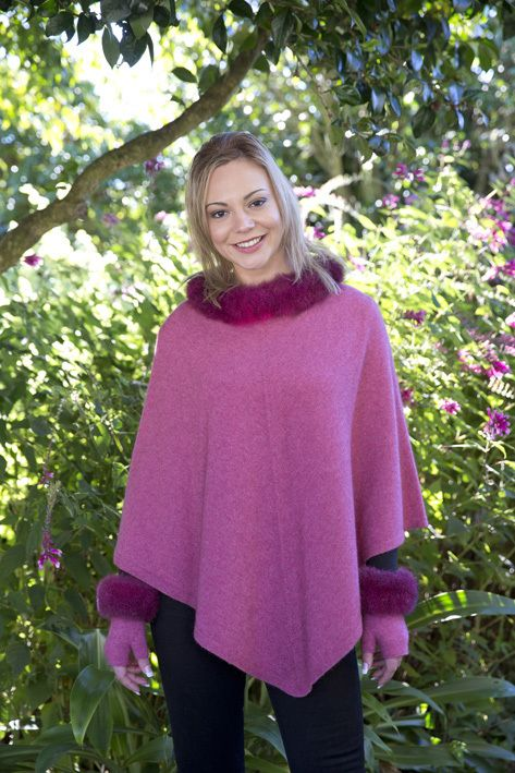 A luxurious addition to a traditional versatile piece.  Made from luxury blend of possum fibre, super fine merino and silk withe 100% pure possum trim.