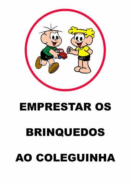Rotina, Combinados e Regras de Convivência - Fichas com os desenhos da Turma da Mônica. | Aprender e Brincar